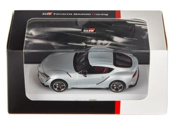 2019 1:43 Toyota Gazoo Racing GR Supra road car silver metallic 1/43 scale model 3