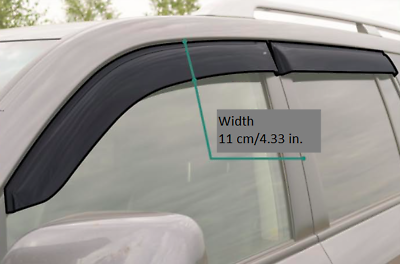 ME23685 Window Visors Sun Guard Vent Wide Deflectors For Mazda 323 Hb 1985-1989