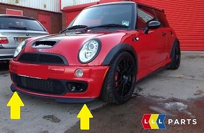 New Genuine Mini R50 R52 S R53 Jcw Gp Front Bumper Spoiler Black