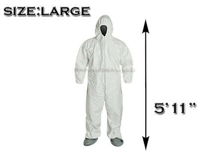 SAFETY HAZMAT SUIT XL EPIDEMIC DISASTERS SURVIVAL PROTECTION KIT BUG OUT