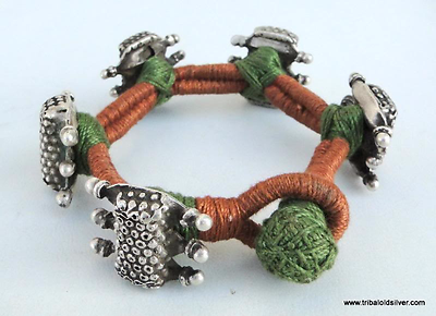 Ancient Antique Ethnic Tribal Old Silver Bracelet India 2 • CAD $213.05