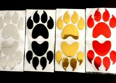 3d Auto Aufkleber Chrom Pfoten Katzen Hunde Tatzen Gold Mit Krallen 2er Set