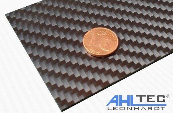 seidenmatt //Größe wählbar CFK GFK Kohlefaser Carbon GF3 Black Platte 1,5mm