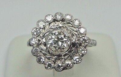 Antique Art Deco Vintage Diamond Platinum Engagement Ring Size 6.25 EGL USA Fine 4