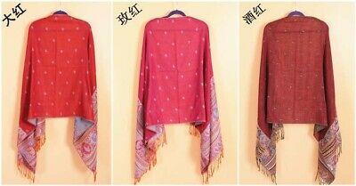 US SELLER- 20 Discount Scarves retro paisley peacock wholesale pashmina shawls 8