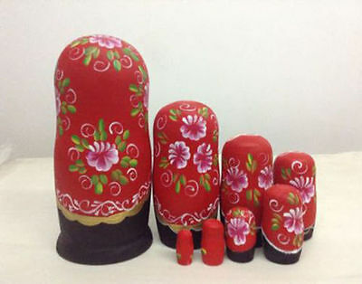 5/6/7/10pcs Wooden Russian Nesting Doll Animal Matryoshka Babushka Stacking Doll 6