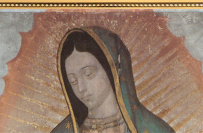 Our Lady Of Guadalupe Religious Gold Faux Frame On Stretched Canvas