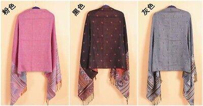 US SELLER- 20 Discount Scarves retro paisley peacock wholesale pashmina shawls 9