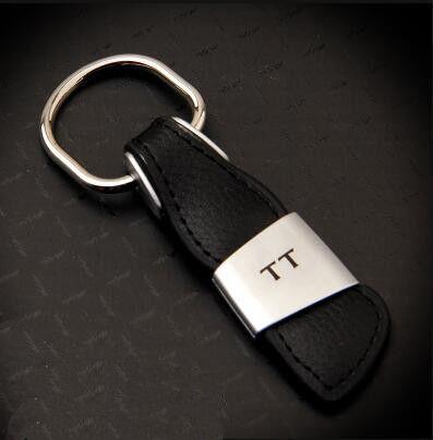 Genuine Car Leather Keychain Keyring for Audi A3 A4 A5 A6 A7 Q3 Q5 Q7 TT Gifts
