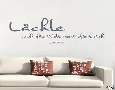 wandaufkleber l chle buddha wandtattoo spr che uss358 wohnzimmer schlafzimmer eur 12 71. Black Bedroom Furniture Sets. Home Design Ideas