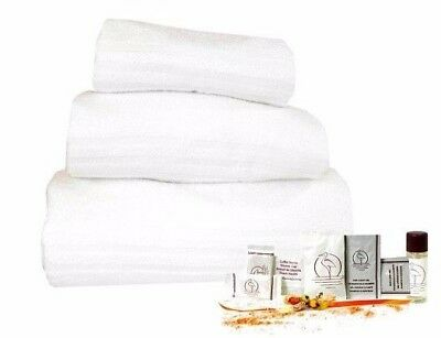 Set Asciugamani Set Cortesia Hotel B&b Cuffia Bustine Shampoo Doccia Set Denti