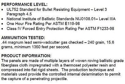 Body Armor   Bullet Proof Plate   ArmorCore   Level IIIA+ 3A+ 10x12- Single 5