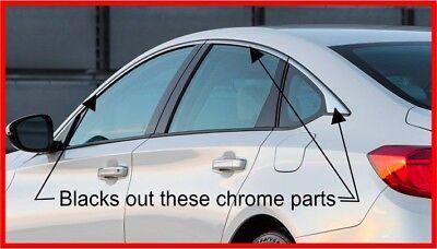 2018/2019 Honda Accord Sedan Chrome Trim blackout overlay 2