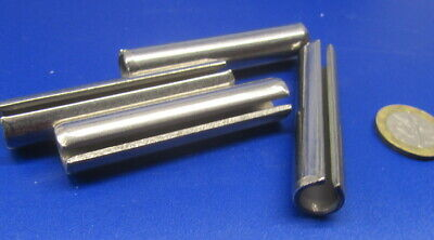 """420 Stainless Steel, Slotted Roll Spring Pin, 1/2"""" Dia x 2 1/2"""" Length, 4 pcs 10"""