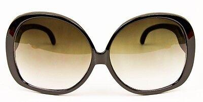 3981cb854d330 ... Retro Jackie O Oversized Huge Black Round Oval Butterfly Glossy  Sunglasses 1033 4