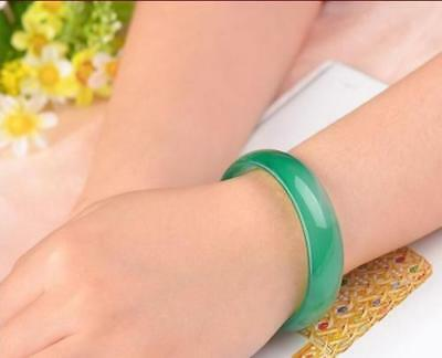 100%Natural green Jade Bangle Bracelet beautiful Jadeite Bangle 58mm-64mm free 5