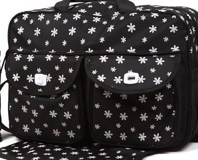 Dark Blue/Black 3PCs Baby Nappie Diaper Changing Bags Set 3 Designs NEW 2