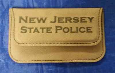 Njsp new jersey state police 45 dark brown leather business card 3 of 8 njsp new jersey state police 45 dark brown leather business card holder reheart Choice Image
