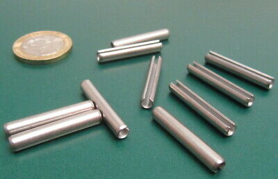 18-8 Stainless Steel Slotted Metric Spring Pin M4 Dia x 26 mm Length, 30 pcs 8