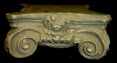 "10"" Greek Roman Ionic Capital Scamozzi Ionian Riser Column Antique Finish 2"