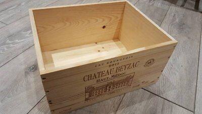 6 x GENUINE FRENCH WOODEN WINE CRATES BOXES  PLANTER HAMPER DRAWERS STORAGE..... 9