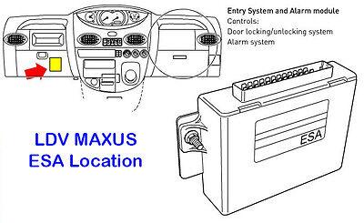 new ldv maxus van 2 button remote key fobs 433mhz part no  a-0684g02d