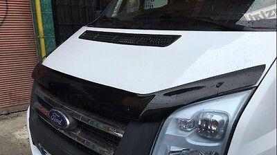FORD Transit MK7 Bonnet Protector Bug Guard Solid Black 2006-2013 2