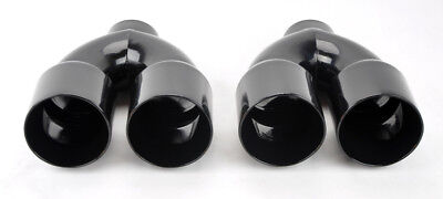 """Dual 4.0/"""" Quad Staggered Burn Style Exhaust Tip Fits Dodge Challenger 08-16"""