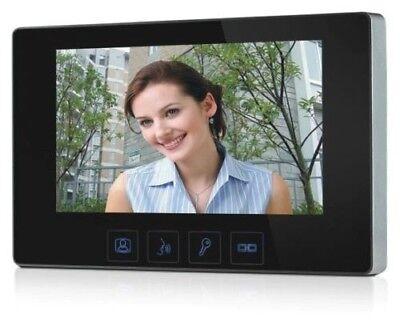 """Zweifamilien Video Türsprechanlage Gegensprechanlage Unterputz mit 2 Monitore7"""" 3"""
