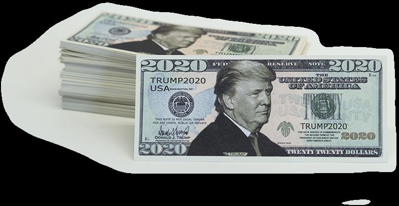 100 BILLS - Donald Trump fake money 2020 Dollar Bills 4