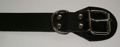 BDSM Lederriemen zusätzlicher D-Ring 5,0 cm mit Klemmschutz zweidrittel-Lochung 3