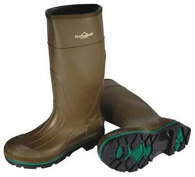 SERVUS BY HONEYWELL 75120/11 Knee Boots, Mens, 11, Pullon, Olive/Grn, 1PR