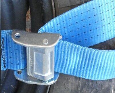 4 x Car Carrying Ratchet Tiedown Trailer  Car Wheel Harness Tow truck Restraint 5