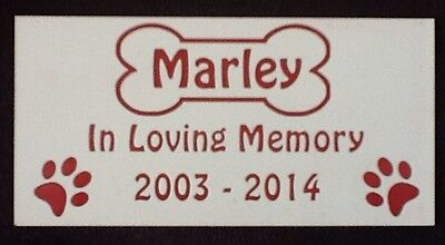 Personalised Pet Dog Memorial Plaque - Various Colours 6