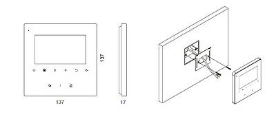 """4Familien 2 Draht 4,3"""" Video Türsprechanlage 2 Megapixel Kamera Mit Bildspeicher 9"""