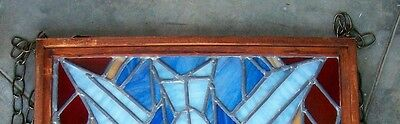 Vintage Church Stained Glass Window Salvage Bird Leaded HOLY SPIRIT DOVE Peace 11
