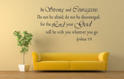 Bible Verse Wall Decals Christian Quote Vinyl Wall Art Stickers Scripture Decor 7