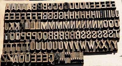 Prägeschrift 15,5 mm Messingschrift Buchbinder Messing Buchbinden Vergoldepresse 2