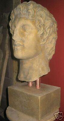 Greek warrior King Alexander the Great bust stone sculpture Canada handmade art 2