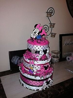 minnie mouse diaper cake baby shower or birthday 10 10 of