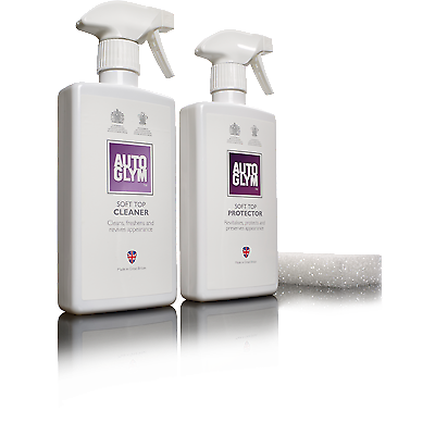 Autoglym Convertible Fabric Hood Cleaner Soft top Clean & Protect 3 Piece Kit 2
