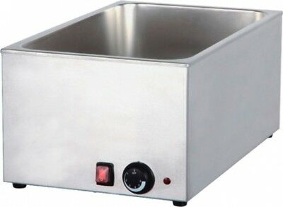 Wet well bain marie hot food sauce warmer with 1/3 gastronorms and lids 3