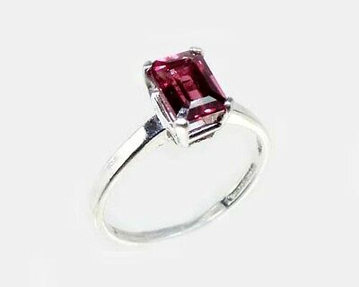 "19thC Antique 1¼ct Handcrafted Norway Rhodolite Bohemian Gypsy ""Cape Ruby"" Ring 2"
