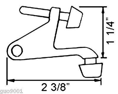New Satin Nickel  Door Hinge pin stop stopper hinges