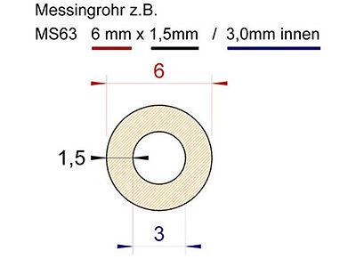 Messing Rohr Rundrohr nahtlos starkwandig - 500mm - drehen Modell Buchse 3