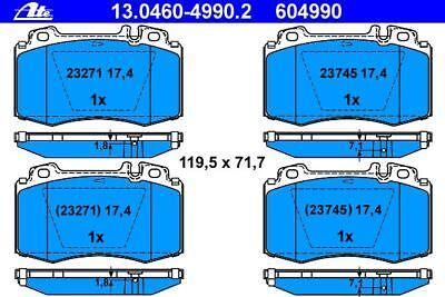ATE BREMSSCHEIBEN 345mm + BELÄGE VORNE MERCEDES C-KLASSE W203 S203 CLK C209 A209