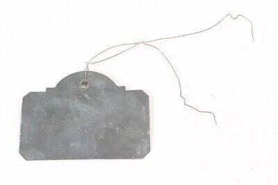 original antiker Anhänger Flaschenhänger aus Apotheke Zink 19. Jhd. shabby chic 3