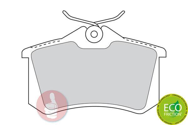 FERODO Premier Bremsbelagsatz Scheibenbremse FDB1788 Hinterachse