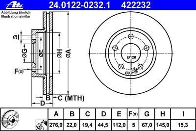 ATE BREMSSCHEIBEN 276mm + BREMSBELÄGE VORNE MERCEDES A-KLASSE W169 B-KLASSE W245