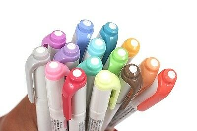 Zebra Mildliner Double-Sided Highlighter set (Cool & Refined Color, 5 in 1 set)